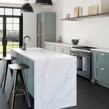 10634-Calacatta Gold kitchen